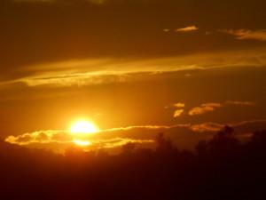 スペインの夕焼け空