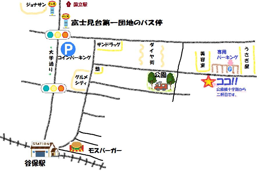 谷保の地図